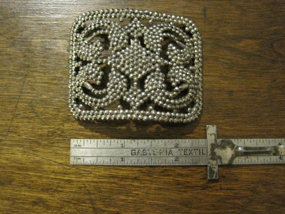Large Victorian Cut Steel Shoe Buckle, Made in France