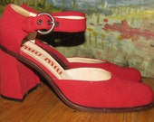 Miu Miu Gorgeous Red Shoes Sz 7 (37.5) Made In Italy