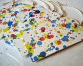 Gift Tag Splatter (6) - Pink, Blue, Yellow