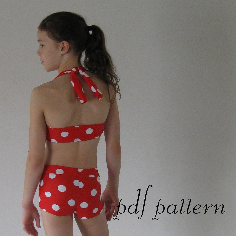 Bikini pattern ella retro vintage swim suit pdf by for Design your own bathers