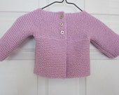 Precious Baby Girl Cardigan in Soft Lilac