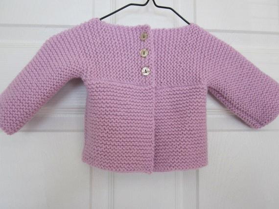 Precious Baby Girl Cardigan in Soft Lilac