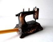 Vintage Copper Tone Sewing Machine Pencil Sharpener