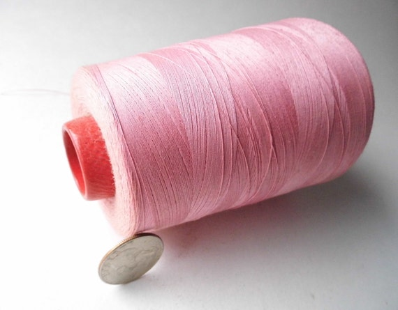 Vintage Cotton Candy Pink Thread on Industrial Cone for Sewing, Crafts, Props, Shabby Cottage Chic