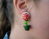 Mario Piranha Plant Earrings