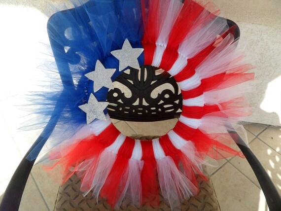 Patriotic Tulle Wreath