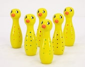 Vintage Duck Bowling Pins - Toy Skittles
