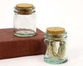 Vintage Spice Bottles - Miniature Pair with Cork Stoppers