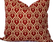 SALE Pillow Cover-Decorative pillow- Accent Pillow-Throw Pillow-Swavelle/Mill Creek-Baxley-Red And Wheat