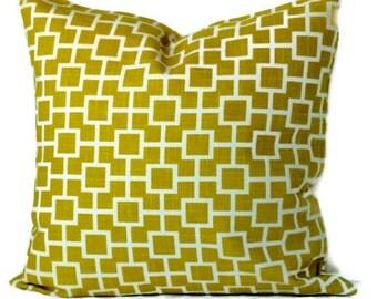 Robert Allen Cats Cradle Decorative Pillow Cover, Throw Pillow, Accent Pillow, 18x18 20x20 14x20, Marigol and Ivory