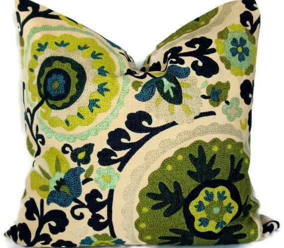 Pillow cover - Accent Pillow - 18X18, 20X20 Pillow Cover- Richloom Bluebrird Cavallo pattern