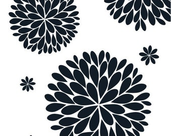 The Original Dahlia Flower Vinyl Wall Decal | Flower Decal