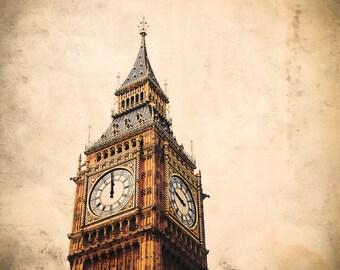 London England - Fine Art Travel Photograph - Big Ben Wrong Time