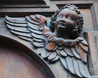 Vienna, Austria - Ornate Door- Fine Art Photograph - Guardian Angel