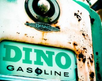 Gas Pump Vintage Retro Roadside Oklahoma City - Fine Art Photograph - Dino Gasoline
