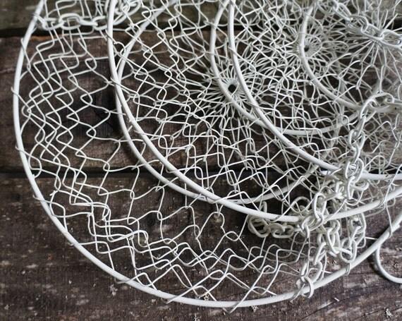 Three Tier Hanging Basket, White- Free Shipping