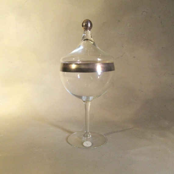 Dorothy Thorpe, 1 Inch Silver Band, Tall Stemmed Candy Dish, Rare