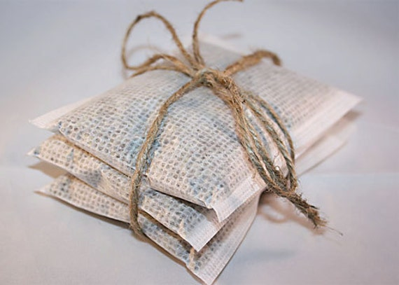 Organic Lavender Sachets Set of 3, Larger size