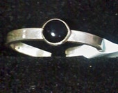 Black Onyx Toe Ring or Child Adjustable Ring
