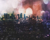 Downtown Los Angeles skyline 8x10 print - littlefeatherstudio