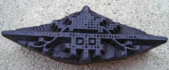 Carved Wood Print Block Textile or Pottery Stamp TS13