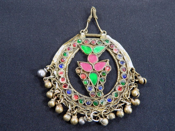Vintage Afghan Kuchi Nomad Tribal Pendant Belly Dance