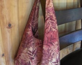 Tote Bag - Mauve Leaves and Ferns Fabric