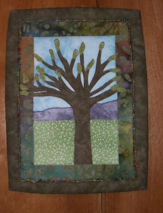 Spring Tree Art Quilt Wallhanging
