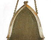 Antique Victorian Gold Mesh Purse / Bag