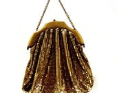 Reserved for Lui - Whiting And Davis Art Deco Gold Mesh Bag - Book Piece