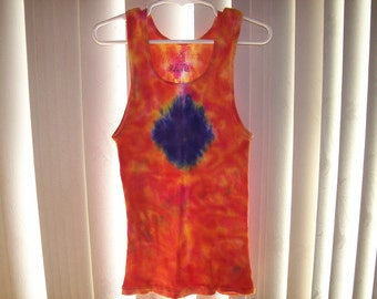 Childrens tye dyed tank top