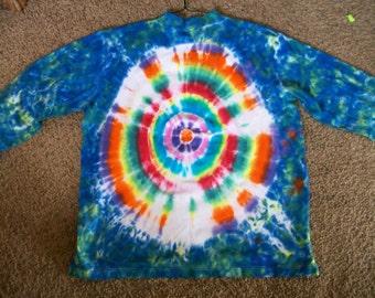Adult long sleeve tye dyed shirt