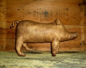 Primitive PIG Cupboard Tuck, Shelf Sitter  -- Made in the USA