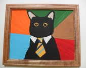 Business Cat 11x14""
