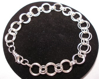 Silver Link Bracelet Double Links Silver Large Double Links Silver Small Double Links