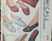 1943 Vintage Slippers and Case Pattern McCalls