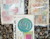 Household Monograms 30s Vintage Embroidery Transfer Sheet LOT