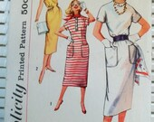 1960s Vintage Simplicity Pattern Womens Dress