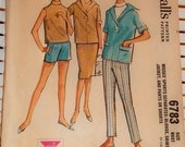 1960s Vintage McCalls Pattern Vacation Outfit Set