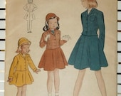 1940s Girl's 2 piece Suit Vintage Vogue Pattern