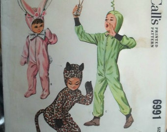 1960s Girls and Boys Costume Vintage Pattern