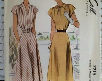 1950s Vintage Dress McCall's Patterns