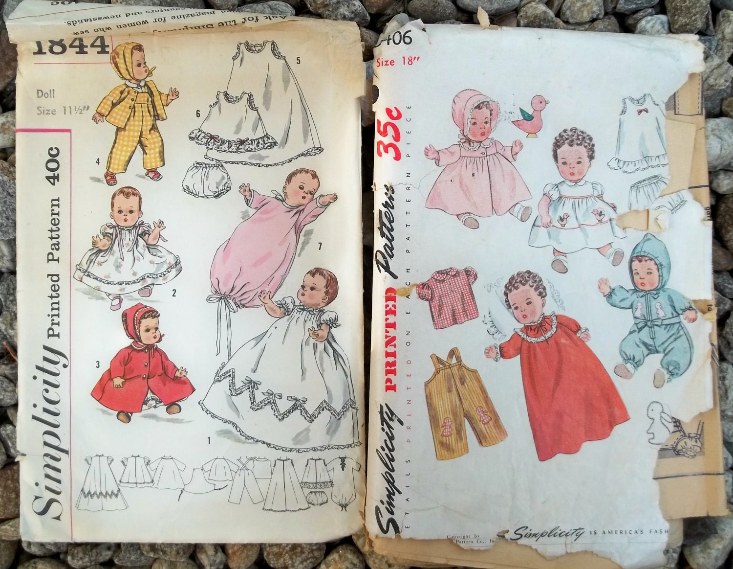 Vintage Baby Doll Collector Clothes Patterns 1950s Lot