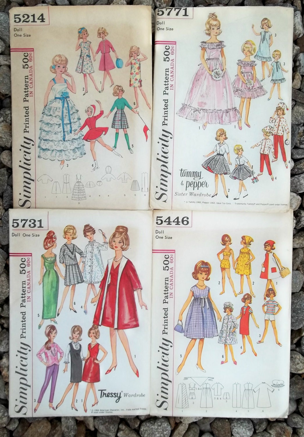Vintage Collector Barbie Doll Clothes Patterns 1960s LOT