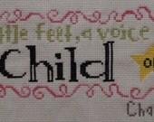 Sweet Child of Mine Cross Stitched Birth Record