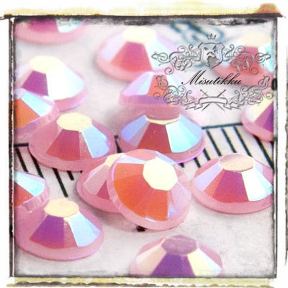 Set of 150 PCS X 5mm Pink AB Round Rhinestone Bubblegum Jelly Candy Color Resin 14 Faceted Gems -Nail Art Deco Supply (GM.RJ5MP)