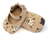 Baby shoes Linen. Baby Boy or Girl. Eco friendly. Custom size.