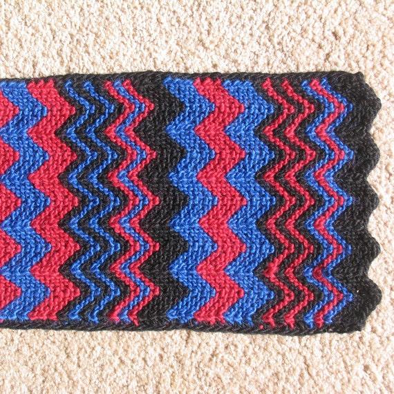 Garter Stitch Zig Zag Scarf Knitting Pattern : Knit pattern scarf zigzag from yarnbhums on etsy studio
