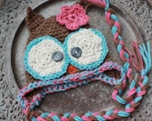 Custom made Owl or Bird hat