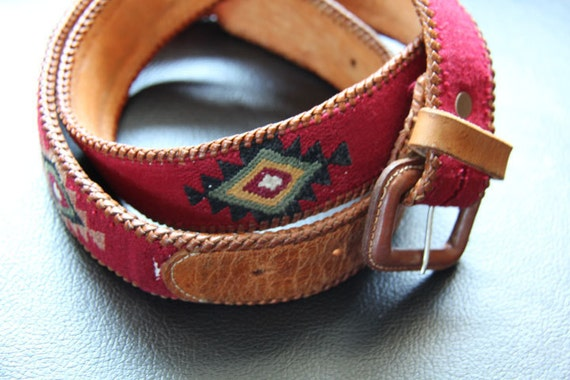 Southerwestern Navajo Leather Belt